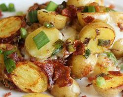 Crockpot Bacon Cheese Potatoes|by Eirene Crimsonpelt
