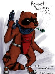 Fanart - Rocket Raccoon 1982|by Gerardson