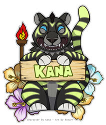 EF Tiki Badge by Rotarr|by Kana