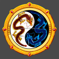 COM : Tien Long and Qing Long Badge Amulet|by WhiteGuardian