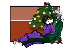 Under the Mistletoe|by hyenafur