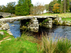 Postbridge Clapper bridge|by HunBun