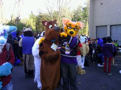 TBFM and Scooby at FurFright 2013|by Lupine Assassin