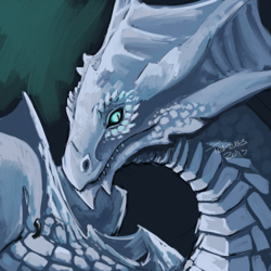 Valion the white dragon|by Tereus