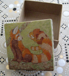 Decorative Box - Panda with Cub|by Spix