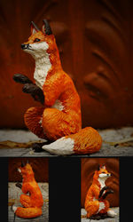 Fox sculpture|by panicYoYo