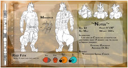 [CM - Red Foxzz] Detailed Character Sheet Clean|by Ceowolf