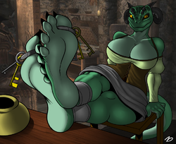 The InnKeeper Argonian|by ZackDragon