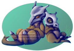 Pokemon - Cubone and Marowak|by TideKeeper