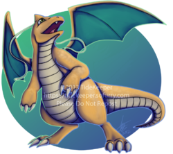 Pokemon - Dragonite|by TideKeeper