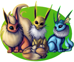 Pokemon - Eeveelutions 1|by TideKeeper