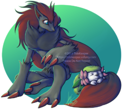 Pokemon - Zoroark and Shaymin|by TideKeeper