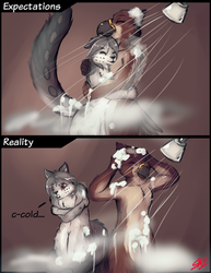 Shower with mate|by sarki