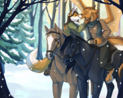 Full Colour Commission - Winter Trail Ride|by anyare