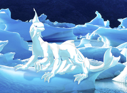 Blyzzard - Pale Blue Glacial-Class Dragon|by Glek