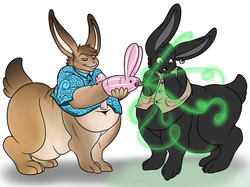 Fat Bunnytaur Time|by Woggle
