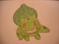Shiny Bulbasaur Drawing|by bhscorch1313