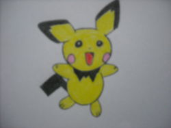 Pichu Drawing|by bhscorch1313