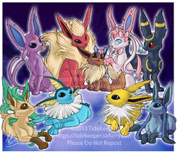 Eevee Family|by TideKeeper