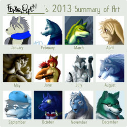 2013 Summary of Art|by Fenrirwolfen