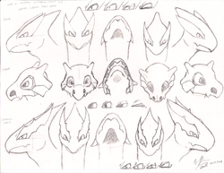 Pokemon head sketches 2|by Neos8