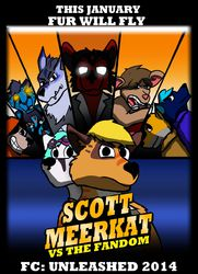 Poster Promo - Scott Meerkat vs The Fandom|by Mike Folf