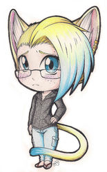 Commish: Neko Boy Chibi|by SaaraBlitz
