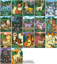 Pokemon Magnets - 2014|by Kalika_Tybera