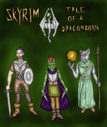 Skyrim: Tale of a Dragonborn Cover|by eragon13666
