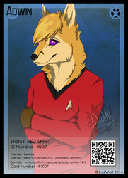 ConFuzzled 2014 Badges - #0007|by IndiWolf