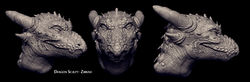 Dragon Head- Zbrush Sculpt|by Aloe-Sata