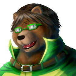 The Green Bear (Commission: KosKuma)|by Fenrirwolfen