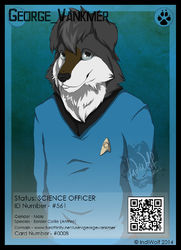 ConFuzzled 2014 Badges - #0008|by IndiWolf