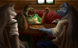 Pizza's the best. (Commission)|by Fenrirwolfen