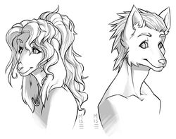 [Gift] Derek & Samantha Headshots, by Misericorde|by VerbMyNoun