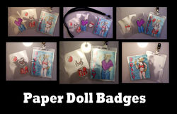Paper Doll Badges|by MischievousPooka