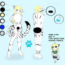 Kyra Ref Sheet|by ValenKyra