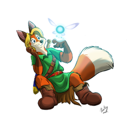 Fox-Link and Navi|by Most Abominable Cherub
