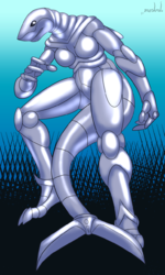 Zada the Great White Cyborg|by Sonic Fox