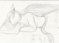 Inanna Sleeping - Sketch|by Inanna Eloah
