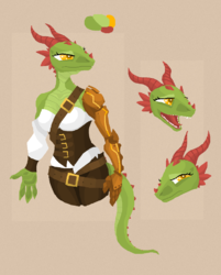 Character Concept: Dragon Pirate|by PhaniasOfMystery