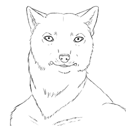 AnthroWolf Lineart[FREEUSE]|by DeanWinchester