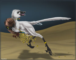 Yukei the thieving velociraptor|by Winter Raptor