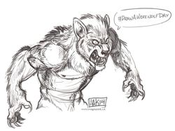 #DrawAWerewolfDay|by weremagnus