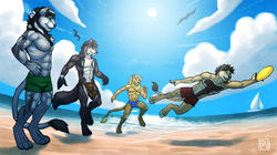 Beach Frisbee|by tsaiwolf
