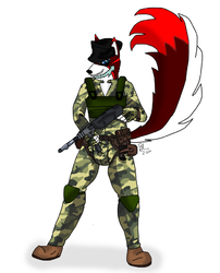 Military Mutt|by Luxuris
