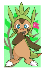 #TailiDraws - A Chespin for Geradex|by mrpandragon