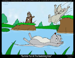 "FanArt, NIMH ""Summer Fun at the Swimming Hole""
