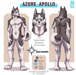 Azure Apollo - My Last Fursona|by ShadesShadow