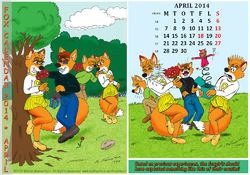 Fox Calendar 2014 - April|by Micke